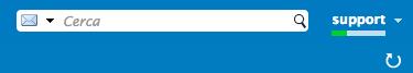 Riquadro di ricerca nella Webmail di Infinito