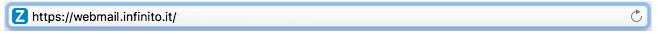 barra degli indirizzi https://webmail.infinito.it